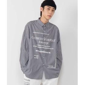 [マルイ]【セール】LogoストライプBIGシャツ/ウィゴー(メンズ)(WEGO)