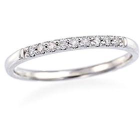 [ジュエリーツツミ]JEWELRY TSUTSUMI K10ホワイトゴールドダイヤモンドリング(ピンキーリング) RFR254 7号