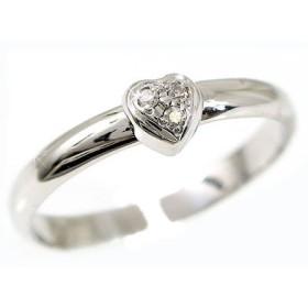 [アトラス] Atrus トゥリング 足の指輪 ハートモチーフ ホワイトゴールドK18 18金 ダイヤモンド ダイヤ K18WG リング 指輪 1号