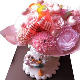 結婚祝い 花 ディズニー フラワーギフト ドナルド&デージーのプリザーブドフラワー ディズニー フラワーギフト