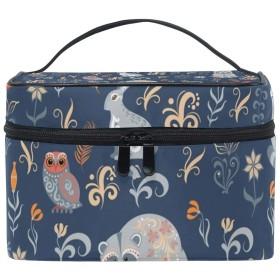 メイクボックス アライグマ柄 化粧ポーチ 化粧品 化粧道具 小物入れ メイクブラシバッグ 大容量 旅行用 収納ケース