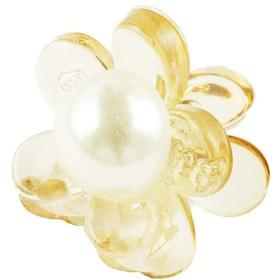 [ATK21] フラワー お花 ミニバンスクリップ プチヘアクリップ 大人可愛い かわいい キッズ レディース ヘアアクセサリー (クリア)