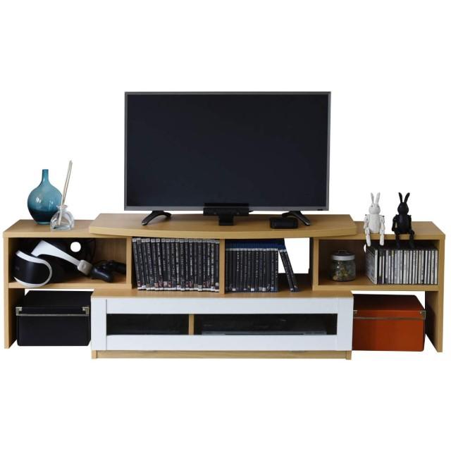 JKプラン コーナーテレビ台 テレビボード テレビラック 伸縮 テレビ台 40型 対応 配線すっきり ひとり暮らしに最適 北欧 TV台 ナチュラル TSFTV0002NAWH
