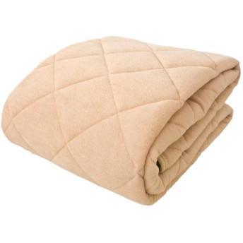敷きパッド 綿ソフトパイル 抗菌防臭加工 (ベージュ, シングル 100×205cm)