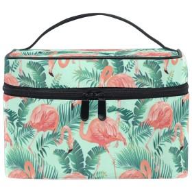 メイクポーチ 熱帯 フラミンゴ 柄 化粧ポーチ 化粧箱 バニティポーチ コスメポーチ 化粧品 収納 雑貨 小物入れ 女性 超軽量 機能的 大容量