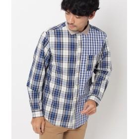 THE SHOP TK(Men)(ザ ショップ ティーケー(メンズ)) 切り替えチェックシャツ
