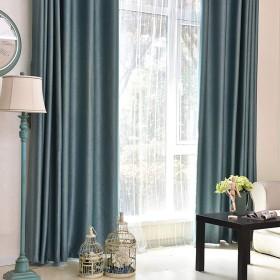 カーテン窓カーテンガーゼベッドルーム陰干し布プリーツブラインド遮光カーテン、リビングルームバルコニー寝室装飾窓 (色 : 濃い緑色, サイズ さいず : 1W1.5H2.2M)