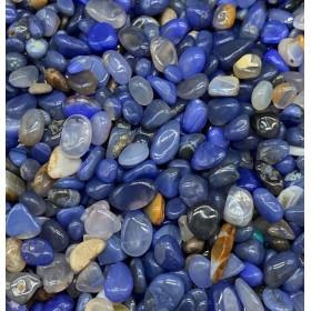 浄化 さざれ 100g 天然石 パワーストーン 各種 5-9mm ブルー アゲート メノウ 藍 瑪瑙 Blue agate