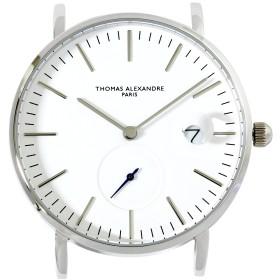 [Thomas Alexandre]トーマ・アレクサンドル 腕時計 フランス 替えベルト対応 ミニマル メンズ/レディース時計 (ホワイト)