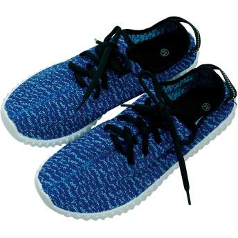 ZIP CORPORATION おしゃれ ニット スニーカー ウォーキングシューズ ブルー Mサイズ:約23~24cm レディース 82665