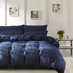 掛け布団カバー シングル 全開ファスナー 4箇所紐付き 結ぶ紐長い 厚手生地 丈夫長持ち 肌触り良い 色落ちにくい 丸洗い速乾 シワなりにくい 静電気ない150×210cm ブルー