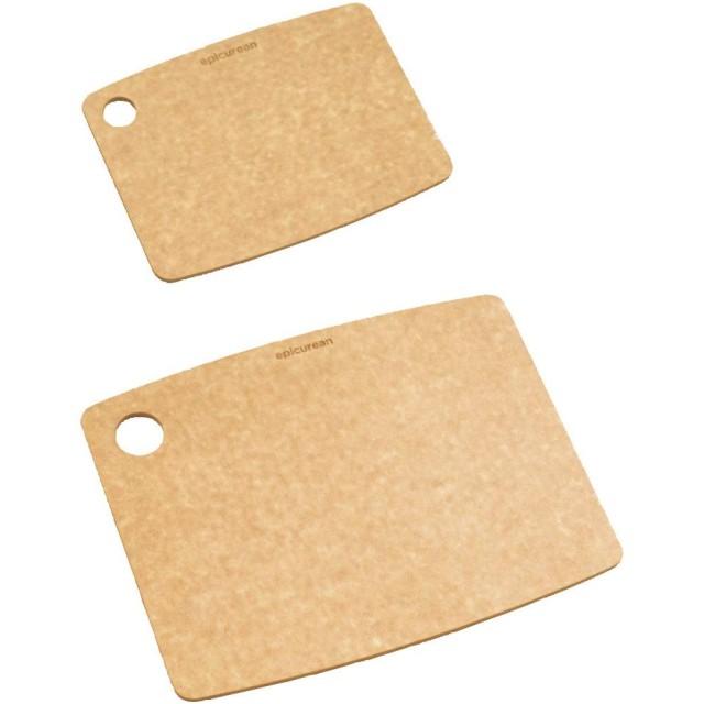 エピキュリアン 木製 まな板 ギフトセット ナチュラル S/M  2枚入 食洗機対応