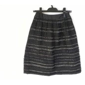トゥービーシック TO BE CHIC スカート サイズ38 M レディース 黒 ラメ【中古】20190906
