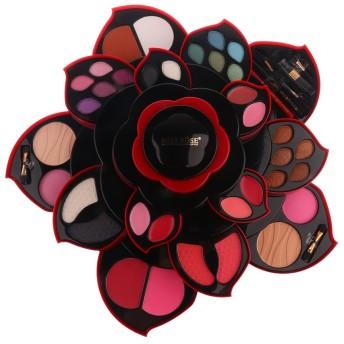 Baosity カラーメイクパレット アイシャドウ 口紅 パウダー メイク アイシャドウパレット ロータリー