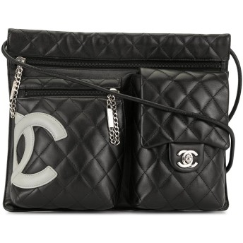 Chanel Pre-Owned Cambon Line ショルダーバッグ - ブラック