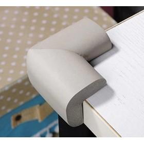 Super JP コーナークッション コーナーガード ベビーガード テーブルや戸棚などの家具のエッジを保護できるガード 4個セット (グレー)