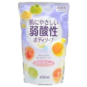 【お徳用 4 セット】 弱酸性ボディソープ フルーティーフローラルの香り 詰替用 400ml×4セット