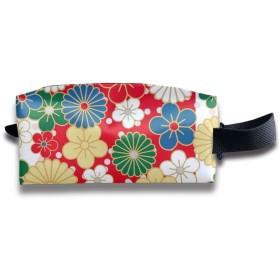 色とりどりの花がたくさん 化粧ポーチ メイクポーチ ミニ 財布 機能的 大容量 アイシャドー 化粧品収納 小物入れ 普段使い 出張 旅行 メイク ブラシ バッグ ポータブル 化粧バッグ