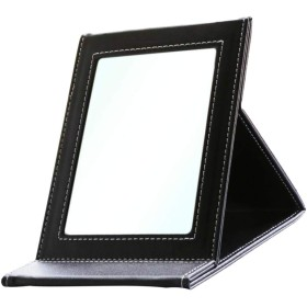Perfeclan ポータブル ミラー ミラースタンド 折り畳み 携帯便利 - ブラック