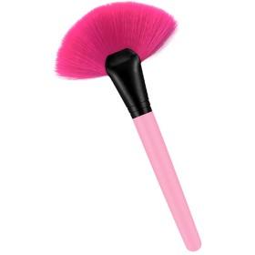 化粧ブラシ 木製ハンドル メイクブラシ メイク道具 全3色 - ピンク