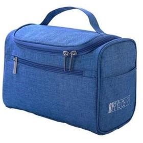 大容量レディースハンドバッグ、旅行用ポータブルウォッシュバッグ、防水性とウェアラブルポータブルクラッチ(ブラック、ブルー、グレー、パープル、レッド、ライトブルー) (Color : Light blue)