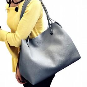 (ガラーボ) GALARVO バッグ レザーバッグ かばん 鞄 2つセット 通勤 通学 就職活動 大人 きれいめ A4 入る 学生 学校 (ダークグレー)