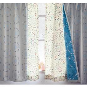 [ベルメゾン] カーテン 遮光 遮熱 防音 洗える 裏地 もかわいい ミニラボ プロヴァンスのマキ(アイボリー)約100×178(2枚)