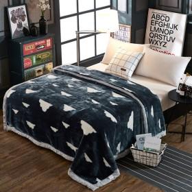 フランネル ベッド毛布,ダブル暖かいスロー ブランケット厚くラッセル毛布キルト帯電防止毛布のベッド ソファ ソファー キャンプ旅行キング クイーン-V 180220cm