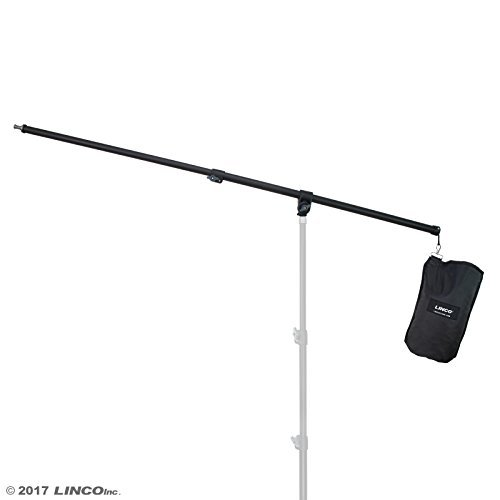 Linco Lincostore 2.5ft to 5ft Adjustable Overhead Light Boom Arm with Univers...