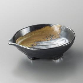 刺身鉢 向付 黒白刷毛5.0片口鉢 和食器 業務用 美濃焼