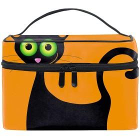 Black Catコスメポーチ 化粧収納バッグ レディース 携帯便利 旅行 誕生日 プレゼント