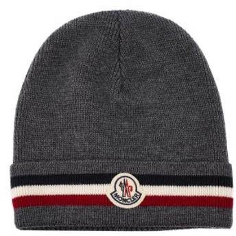 モンクレール ニット帽子 2019年-2020年秋冬新作 00328 00 02292 HAT ニットキャップ ビーニー グレー