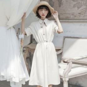 ワンピース ミモレ丈 レトロ 韓国ファッション オルチャンファッション