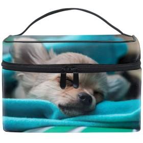 化粧ポーチ トラベルポーチ ドレッサー 化粧品 収納 雑貨 小物入れ 女性 超軽量眠っている犬