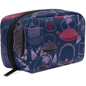 和風 化粧ポーチ メイクポーチ 機能的 大容量 化粧品収納 小物入れ 普段使い 出張 旅行 メイク ブラシ バッグ 化粧バッグ