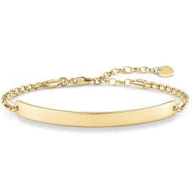 [女性用ブレスレット]Thomas Sabo Women-Bracelet Love Bridge 925 Sterling Silver 18k yellow gold plating Length from 16.5 to 19.5 cm Bridge 5.4 cm LBA0047-413-12-L19,5v[並行輸入品]