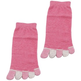 JIOLK 5本指ソックス レディース ショートソックス スリム 綿 通気性抜群 つま先 靴下 吸水速乾 シンプル 無地 抗菌防臭 くるぶし丈