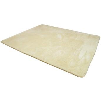 シャギーラグ ラグマット 洗えるカーペット 140x200cm 約 1.5畳 滑り止め 春 夏 秋 冬 長毛 低反発 ホットカーペット床暖房対応 絨毯 軽量設計(キャメル)