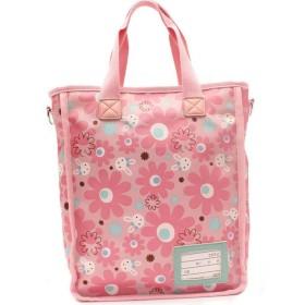 (レーチャミ)le charme マザーズバッグ 学生用ハンドバッグ 斜めかけもできる 多機能バッグ ピンク