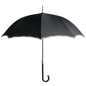 【まとめ 2セット】 パイピングロゴワンタッチ傘 ブラック