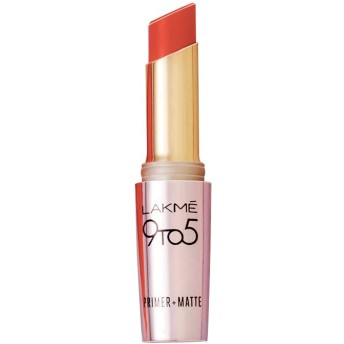 Lakme 9 to 5 Primer Matte Lip Color, Brick Blush MR21, 3.6g