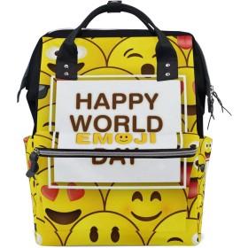 ママリュック 微笑む かわいい ミイラバッグ デイパック レディース 大容量 多機能 旅行用 看護バッグ 耐久性 防水 収納 調整可能 リュックサック 男女兼用