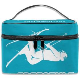 MEClOUD 化粧ポーチ スキー メイクポーチ コスメバッグ 収納 雑貨大容量 小物入れ 旅行用