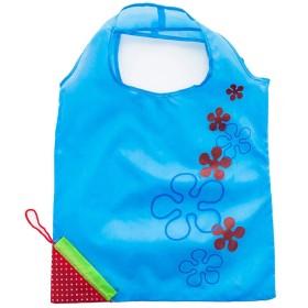 TAUWELL ショッピングバッグ 折りたたみ買い物袋 ナイロン製 トートバッグ いちご形 ブルー