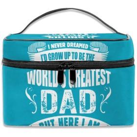 最高 お父さん 化粧ポーチ メイクポーチ コスメバッグ 収納 雑貨大容量 小物入れ 旅行用