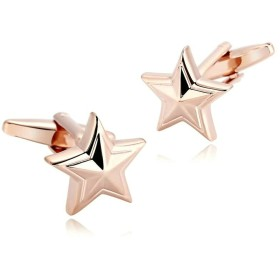Aooazジュエリー カフス メンズ ピンクゴールド星 ステンレスのビジネス 結婚式 シャツ おしゃれ カフスボタン