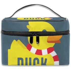 鴨 化粧ポーチ メイクポーチ コスメバッグ 収納 雑貨大容量 小物入れ 旅行用