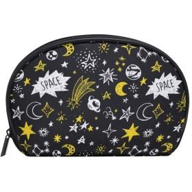 化粧ポーチ 化粧ポッチ 星空 夜空 個性的 ブラック バニティーポーチ 化粧袋 収納バッグ トイレタリーバ 旅行出張用 洗面用具 小物入れ