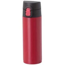 ATLAS(アトラス) 水筒 350ml ステンレスボトル フェザー マグボトル 軽量 スリム ワンタッチ ボトル レッド AWS-350RD