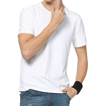 yシャツ ワイシャツ 半袖 メンズ MCULIVOD ビジネス 形状記憶 形態安定 無地 吸汗速乾 カジュアル レギュラーフィット 冠婚葬祭 綿 ポケット付き 春 夏 カラー 白 ホワイト ピンク ビッグ 大きいサイズ S M L XL XXL (白(クルーネック), フリーサイズ)